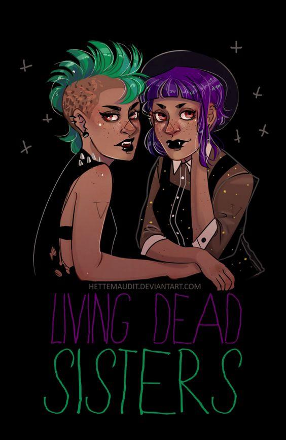 Living dead sisters by HetteMaudit.deviantart.com on @DeviantArt