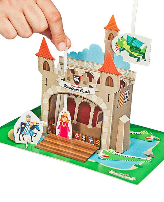 Medieval Castle Paper TheaterHoliday ToyDIY Craft Kit Paper
