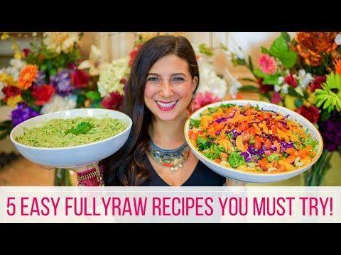 1 5 Easy Fullyraw Vegan Recipes Beginner S Guide Youtube Vegan Recipes Beginner Raw Vegan Recipes Raw Vegan Recipes Easy