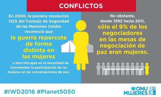 #8deMarzo La ONU advierte que la repercusión de la guerra en las mujeres es diferente >> http://www.un.org/es/events/womensday/