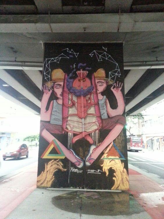 Grafiti, embaixo do elevado Costa e Silva.
