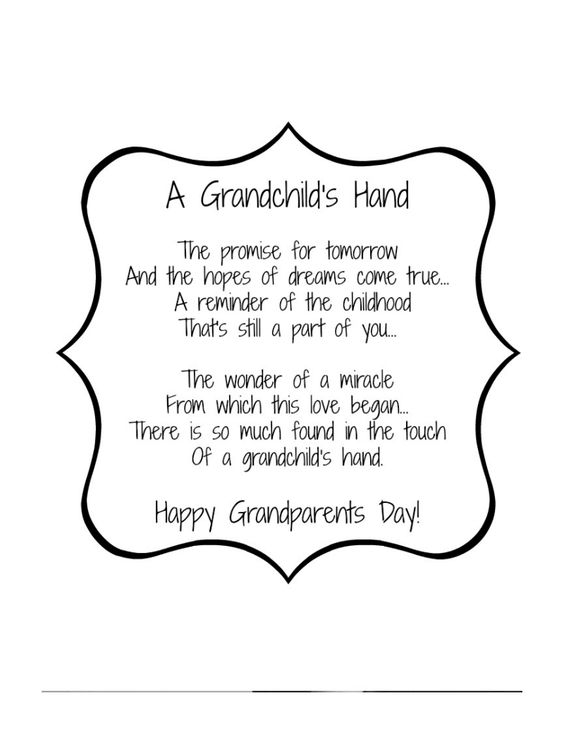 Grandparents Day Poem 2.pdf | Families | Pinterest | Poem ...
