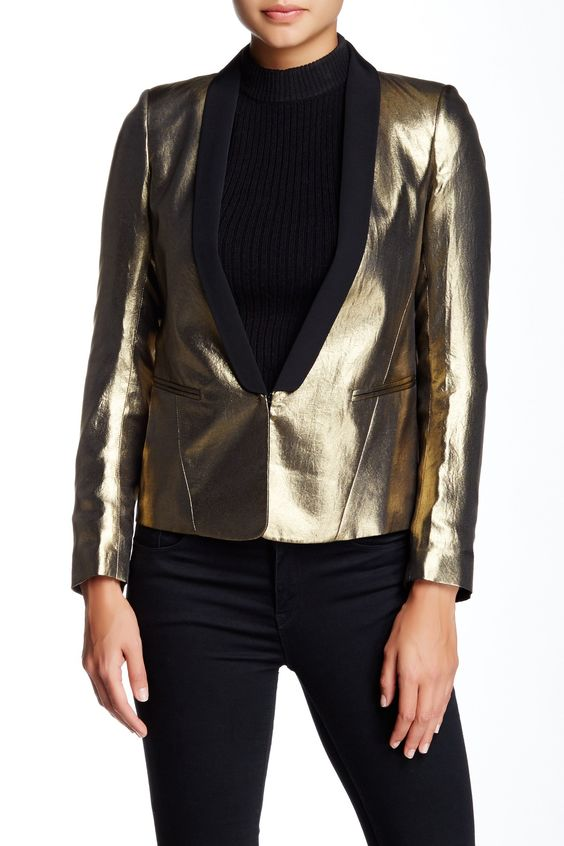 Virginale Metallic Blazer by Sandro on @HauteLook
