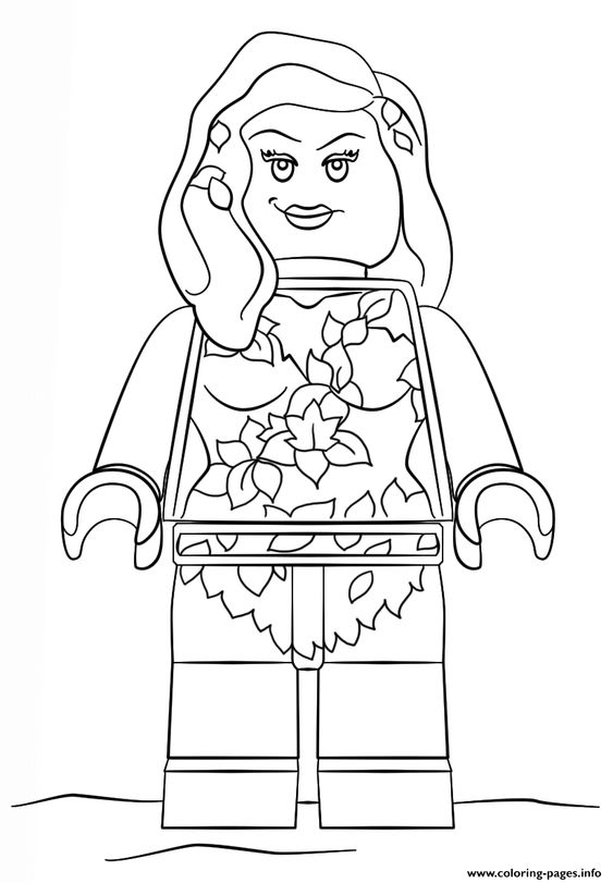 Print lego poisin ivy coloring pages