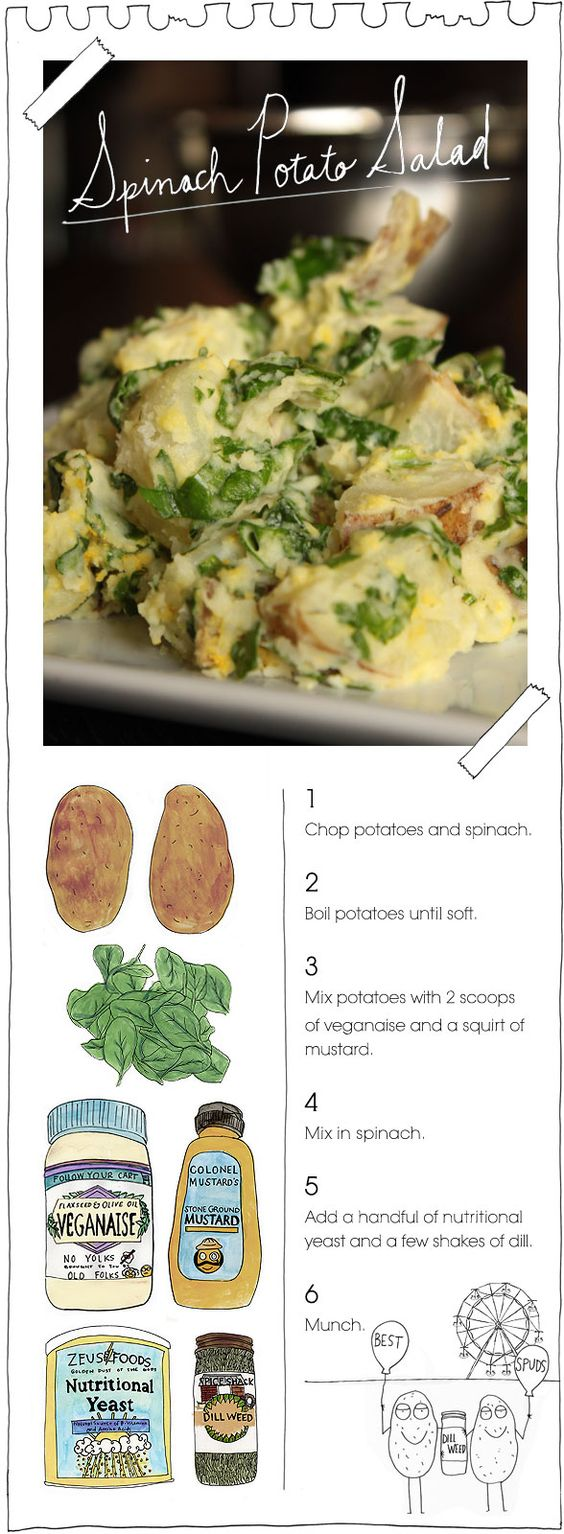 spinach potato salad: as for me in our house we're trying kale. replace it with kale