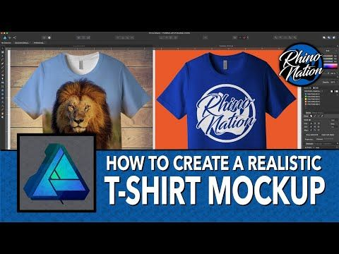 Download How To Create A T Shirt Mockup In Affinity Designer Youtube In 2020 Tshirt Mockup Shirt Mockup T Shirt
