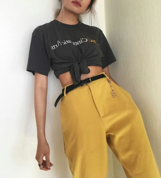 YELLOW TROUSERS AND A THOT KNOT