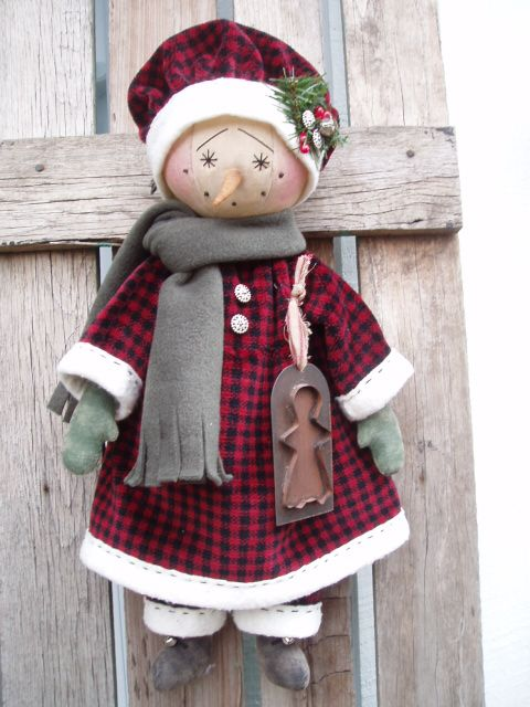 Handcrafted Snowgirl - Beehive Cottage - lwemporium.com
