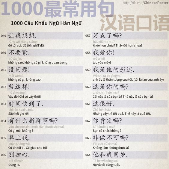 1000 Chinese Sentences In Daily Life Part 4