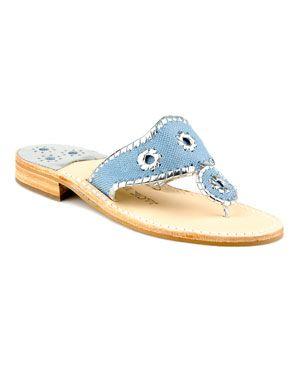 Carolina Blue Jack Rogers 'Navajo' Fabric & Leather Sandal