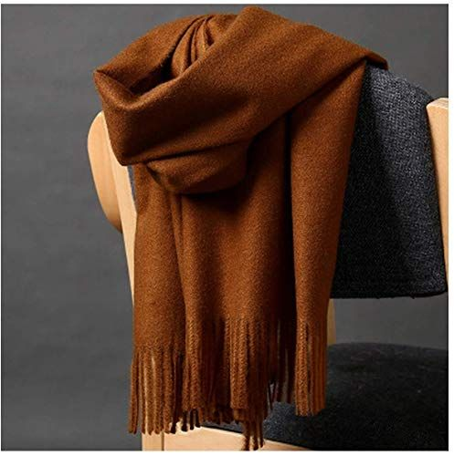 Solid Color thickening Warm Scarf Cashmere  Wrap with Tassel Long Men Women Lady