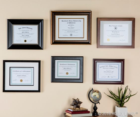 Celebrate your accomplishments by framing your diploma. With a large ...