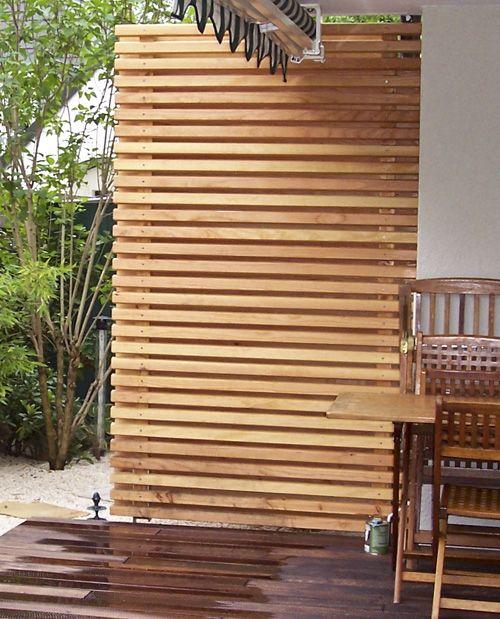 Terrassen Sichtschutz Holz QG23 – Hitoiro
