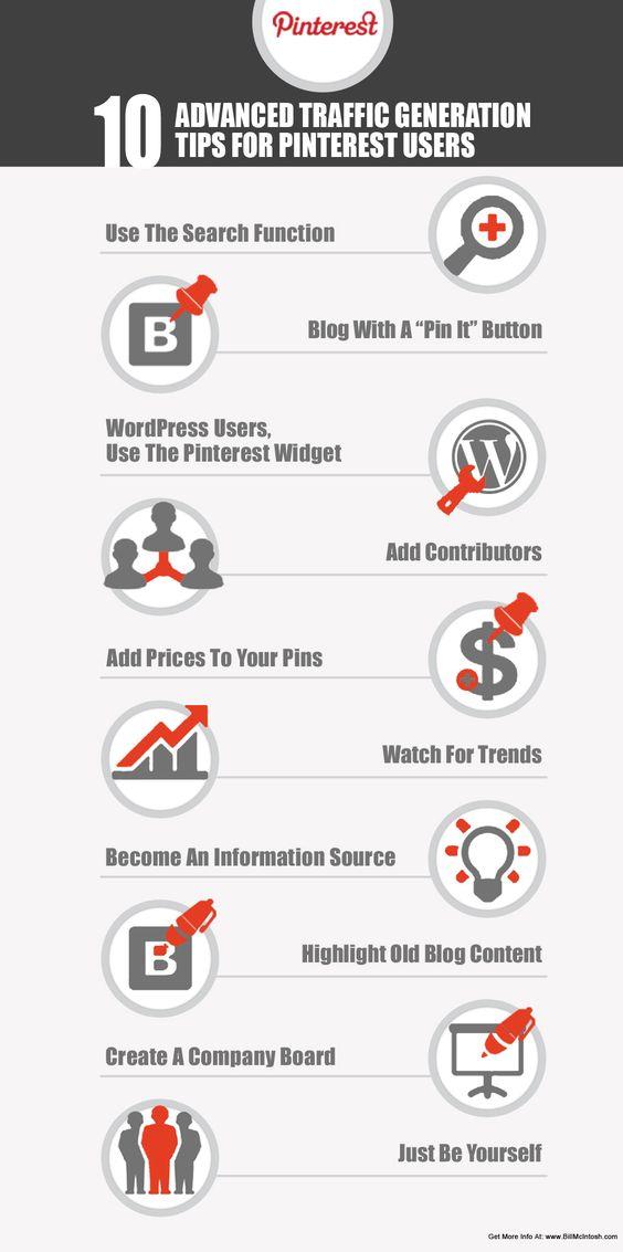 Infographics for #Pinterest - tips