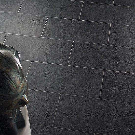 I Don't Mind A Large Scale Grey Subway Pattern Tile Floor