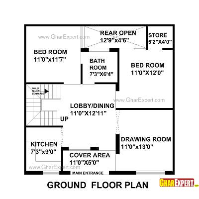 1000 sq ft house plan indian design | dance-drumming