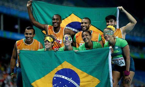 Brazil's 4x100m T11-13 women's squad