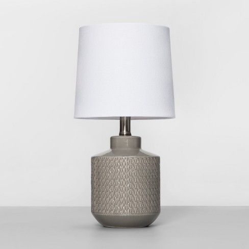 Ceramic Pattern Table Lamp Project 62 Target Grey Table