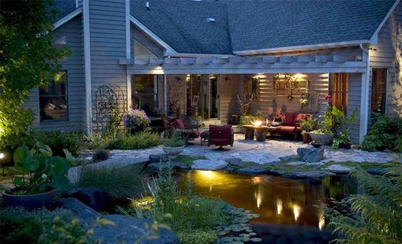 Gartenteich anlegen u2013 Bilder und Ideen für eine kreative - terrasse anlegen ideen