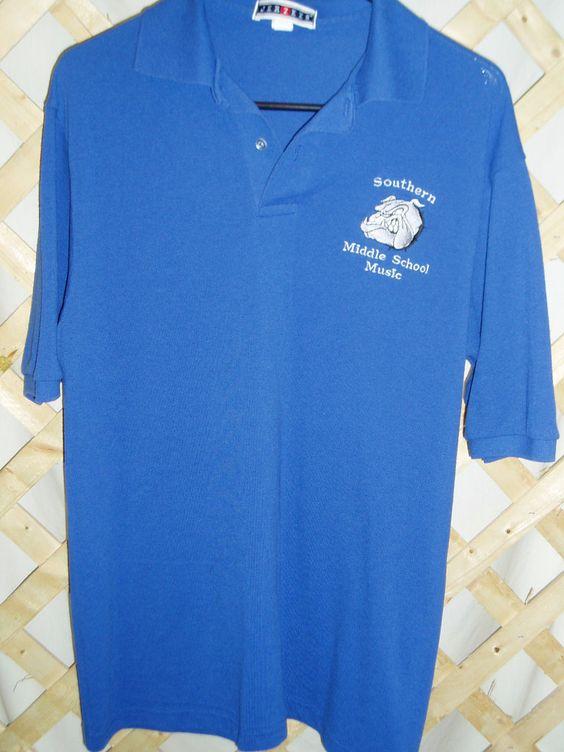 Polo Shirt - Southern Middle School Logo - Youth Medium