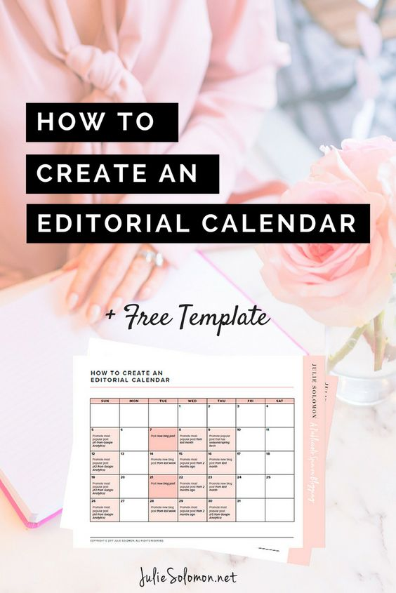 Get my tips on how to create an editorial calendar, the free template you can instant download is going to be really helpful! Get it now by Julie Solomon