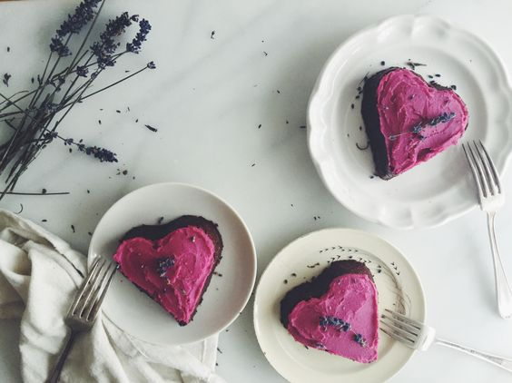 RAW LAVENDER & CACAO CAKE WITH BEET & CASHEW FROSTING