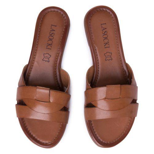 Klapki Lasocki Wi23 Rupia 02 Brazowy Damskie Buty Klapki Https Ccc Eu Slip On Sandal Shoes Sandals