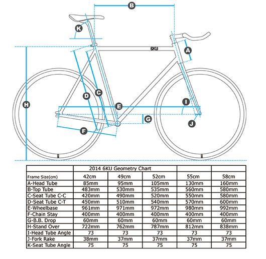 Single Gear Bicycle Measurements Google Search Fixie