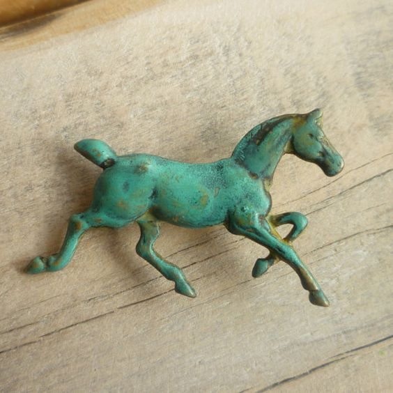 antique horse drawer pull: