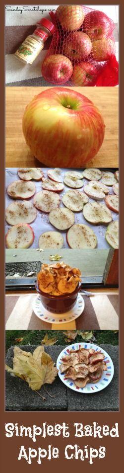 Apple chips, Baked apple chips and Baked apples on Pinterest