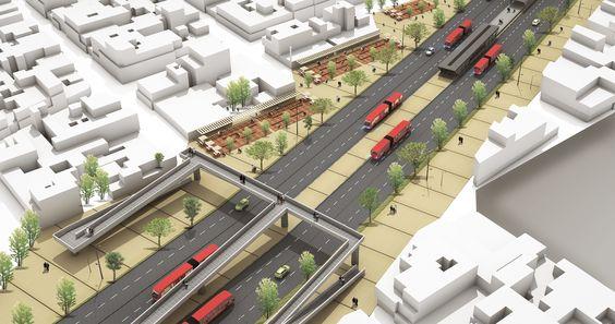 Diseño Urbano en Via Vehicular