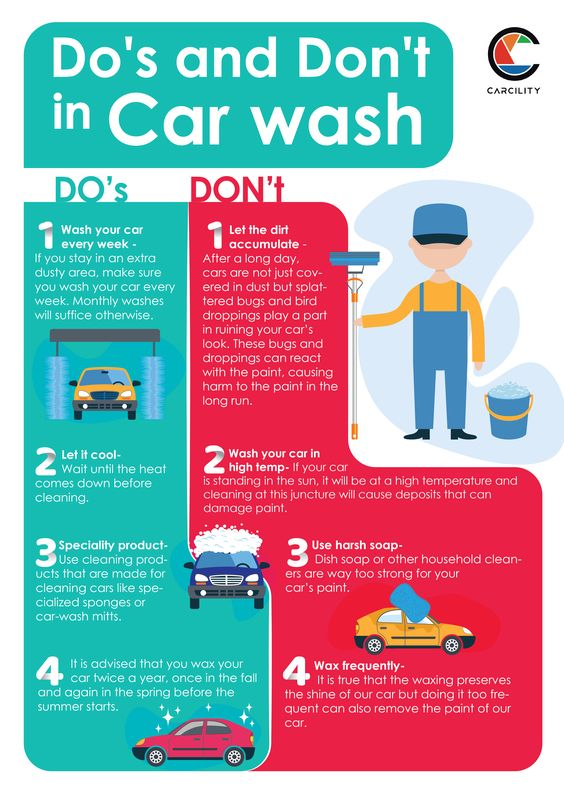 Washing car the right way - do's and don'ts