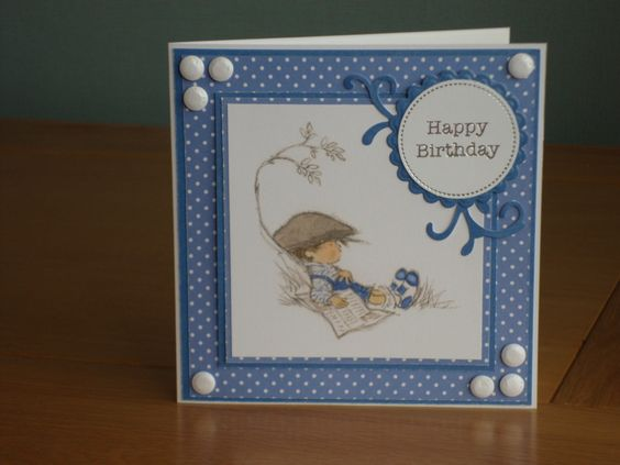 Male Birthday card using Lili of the Valley Art Pad and papers from Anna Marie