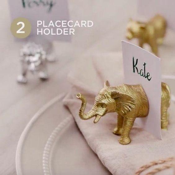 Platzkartenhalter | Plastische Tiere für Ihre nächsten Bastelarbeiten