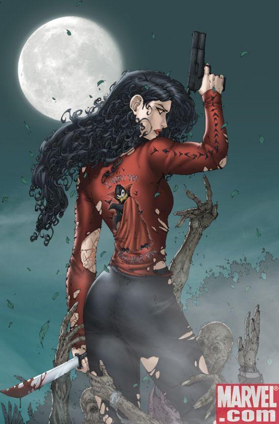 Anita Blake: Vampire Hunter novels and graphic novels by Laurell K. Hamilton and Dark Horse/ Marvel comic books.