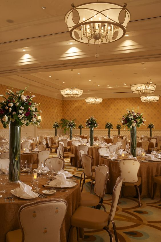 Beautiful decorated banquet rooms