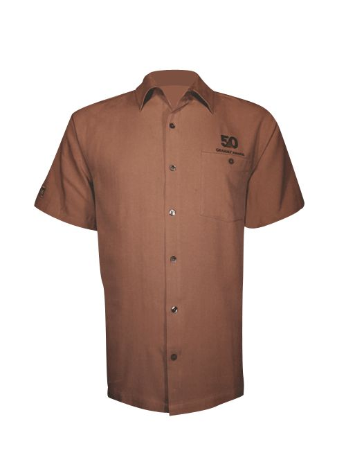 50th Mens Luxurious Button Down Shirt - Brown or Tan