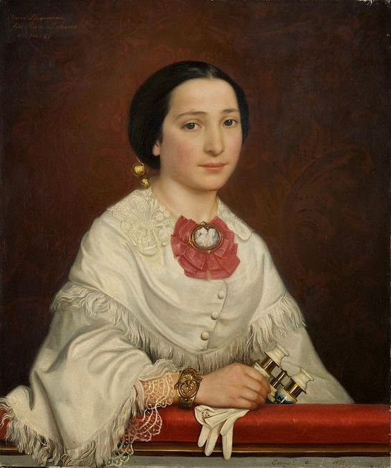 Figuration Feminine Ekwall, Emma Amalia - Portrait of Maria Dominica Ricci (1854)