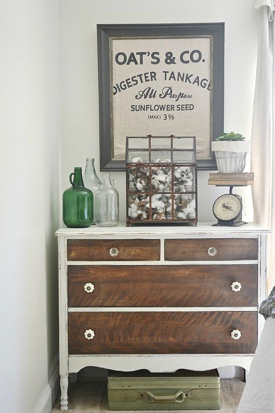 Stains sacks and painted dressers on pinterest for Places that sell bedroom furniture