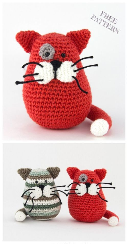Cute Crochet Pusheen Amigurumi Free Patterns #cutecrochet in 2020 ... | 950x500