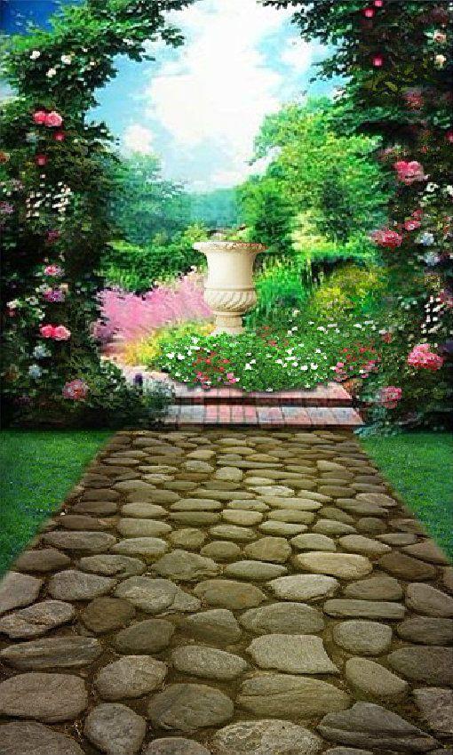 Details About Flower Garden Vinyl Photography 1 5x2 1m