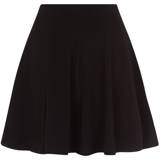Black Skater Skirt ($16) ❤ liked on Polyvore featuring skirts ...