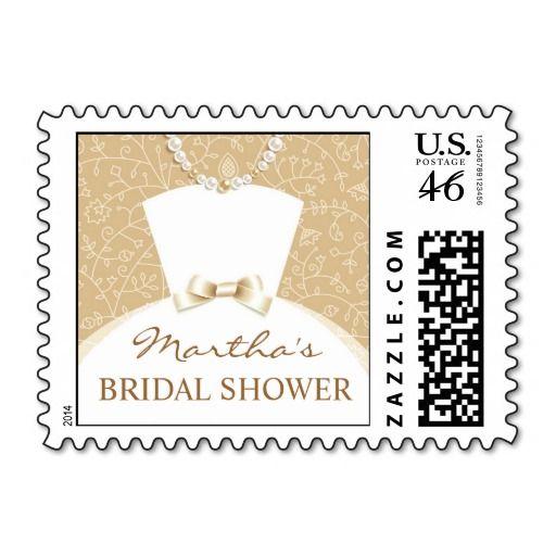 Bridal Shower Invitation Small Postage