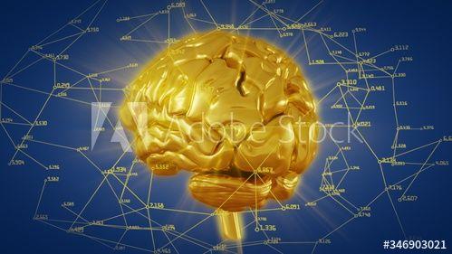 3d Illustration Golden Brain With Computational And Mathematical Data Ad Brain Golden Illustration Data Mat In 2020 Paper Lamp 3d Illustration Novelty Lamp