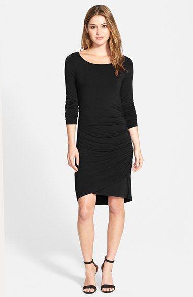 Halogen® Side Shirred Knit Dress (Regular & Petite) (Online Only) available at #Nordstrom