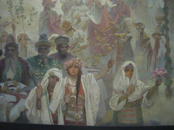 Slav Epic No 6 The Coronation of Serbian Tsar Stepan Dusan 1926