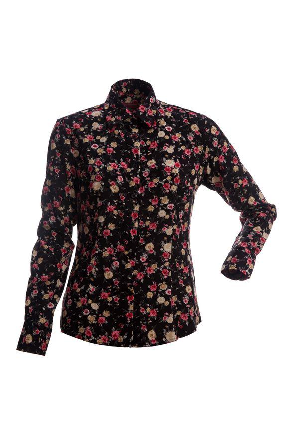 Preta Floral Vermelho | Ref: OR1808682