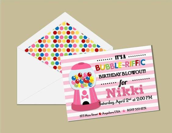 Adalyn's bubble gum party