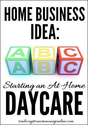 If you love kids and need to work from home, consider starting an at-home daycare. The start-up costs are relatively low, and there is always a demand for the service.