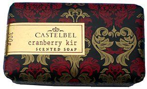 Castelbel Cranberry Kir 10.5 Oz. Single Bar Soap From Portugal by Castelbel. $11.00. Large Long Lasting Triple Milled Soap. With Natural Oils. Exotic Cranberry Kir Scent. No Preservative Or Artificial Additives. Imported From Portugal. Castelbel Cranberry Kir 10.5 Oz. Single Bar Soap From Portugal. This honored luxury bath soap is French milled and made without preservatives or artificial additives. Contains natural oils. 10.5 Oz. long lasting size. No animal testing.